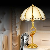 Brass decorative table lamp style 2