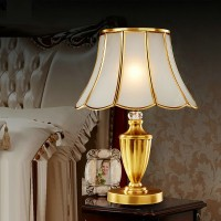 Brass decorative table lamp style 1