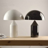 Oluce Atollo Style Table Lamp made of metal in large size