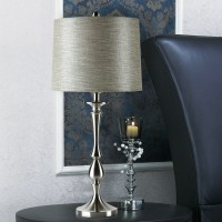 Modern stainless steel table lamp