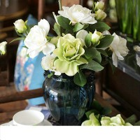 Artificial flower and vase for dining room