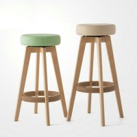 Simple style solid wood bar stool chair