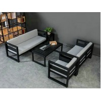Iron Chair Table Sofa Seat Combination for Bar Cafe Restaurant style 2