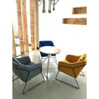 Iron sofa Nordic style chair for studio cafe bars