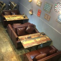 Retro Westhouses Sofa Cafes Sofa Tables and Chairs Combination