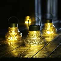 Outdoor waterproof LED solar chandelier solar controlled pendant lamp