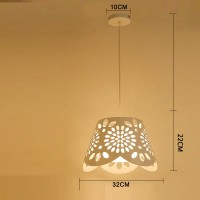 Creative iron pendant lamp simple chandelier style 14