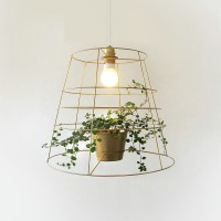 Creative green potted plant pendant lamp