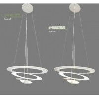 Artemide Style Pirce Suspension Pendant Lamp in Extra Small size with a downward spiral design