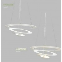 Small size Artemide Style Pirce Suspension Pendant Lamp with a downward spiral design