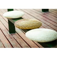 10cm thickness Straw plaited floor cushion
