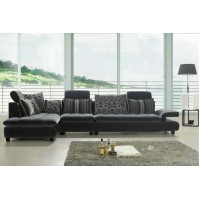 Modern fabric sofa set with chaise