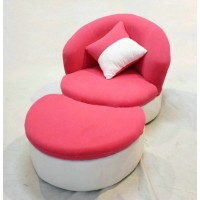 Cute fabric sofa in the lips shape, Single seat, can be with ottoman.