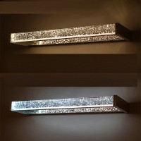 LED water and moisture proof crystal wall lamp for bathroom or toliet