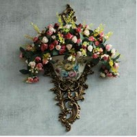 Flower Case Hanging Wall Decoration