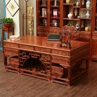 Chinese antique solid wood manager boss table desk