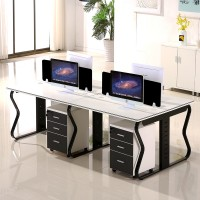 office furniture staff office computer tables and chairs with simple screen station style 3