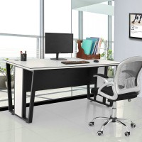 Black and white color modern office furniture boss table manager desk combination table