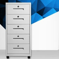 Disassembly Small File Cabinet with Roller Multi-drawer Separate Locked Storage