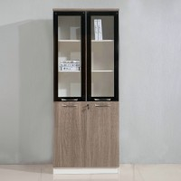 Simple file cabinet wood combination bookcase style 1