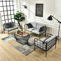 Iron Guest Room Office Sofa