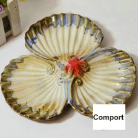 Ceramic shell style fruit dish
