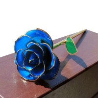 Natural blue rose with foil edge