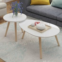 Nordic coffee table creative oval coffee table