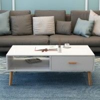 Coffee table with cabinet combination solid wood
