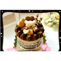 Birthday cake shape towel set