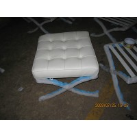 Barcelona style Ottoman in PU Leather