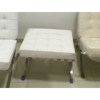 White Barcelona Ottoman in higher grade