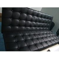 Barcelona Loveseat Cushions and Straps in Italian Leather