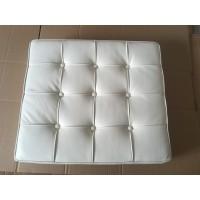 Off White Barcelona Ottoman Cushion In Italian Leather