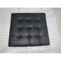 Black Barcelona Ottoman Cushion In Full Grain Leather