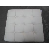White Barcelona Ottoman Cushion In Full Grain Leather
