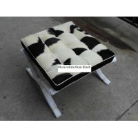Cowhide Barcelona Ottoman Cushions With No Piping