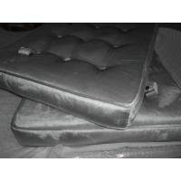 Silver Grey Velvet Barcelona Chair Cushions