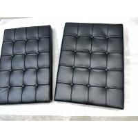 Black Barcelona Chair Cushions in standard grade