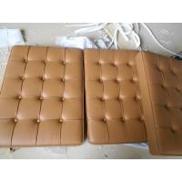Dark Tan Barcelona Chair Cushions in higher grade