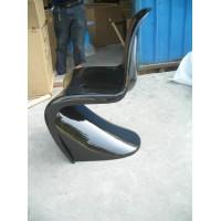 Panton chair in fiberglass NOT ABS of black color