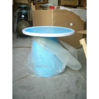 Parabel Table of 60cm in diameter in Blue color