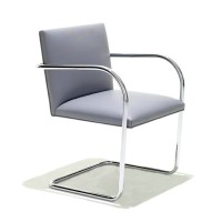 Mies Brno Flat Chair in PU leather