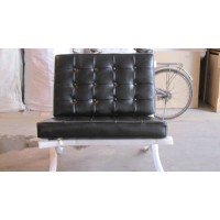 Barcelona Style Chair in Top Grain Leather