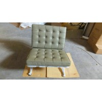 Barcelona chair in Olive color