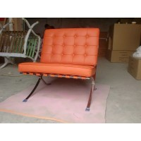 Orange Barcelona Chair