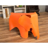 Eames Elephant Lounge Chair in Orange
