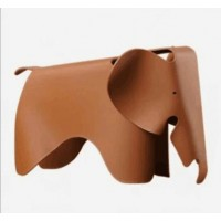Elephant Lounge Chair In Brown Cognac