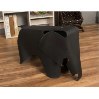 Elephant Lounge Chair In Black