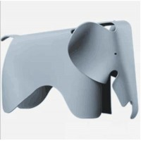 Elephant Lounge Chair In Grey Blue